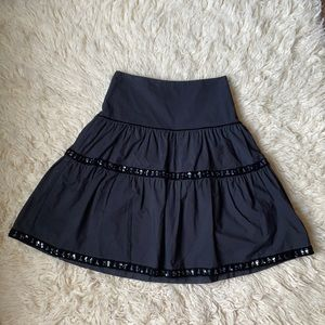 Black Beaded Holiday Skirt Sz 1